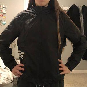 black adidas windbreaker